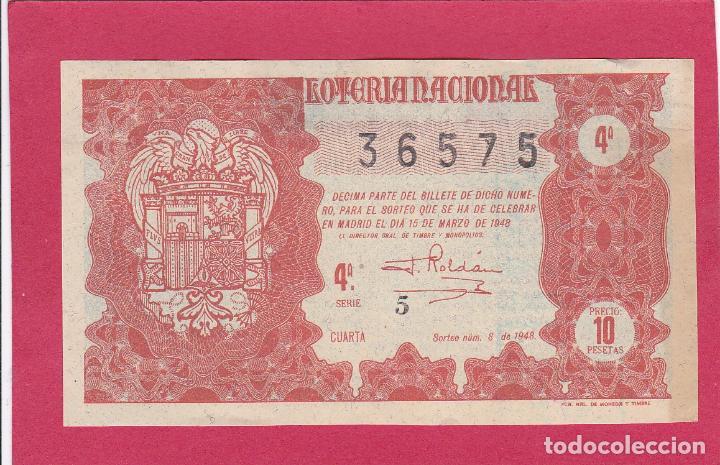 LOTERIA NACIONAL SORTEO 6 DE 1948 (Coleccionismo - Lotería Nacional)
