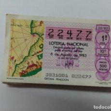 Lotería Nacional: 31 DECIMOS LOTERIA 1983.. Lote 188532331