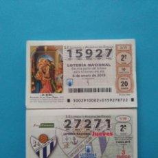 Lotteria Nationale Spagnola: OFERTA 2 AÑOS COMPLETOS LOTERÍA NACIONAL JUEVES Y SÁBADO AÑO 2019. Lote 189925388