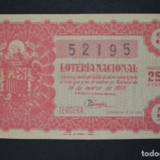 Loterie Nationale: LOTERÍA NACIONAL. SORTEO Nº 8. 16 DE MARZO DE 1959. ROMANJUGUETESYMAS.. Lote 190470272