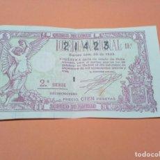 Lotería Nacional: LOTERIA NACIONAL NAVIDAD 22 DICIEMBRE 1933 SORTEO 36 NÚM 21423. Lote 190616772