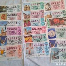 Lotería Nacional: DECIMOS DE LOTERIA 1988 A 2001. Lote 190881075