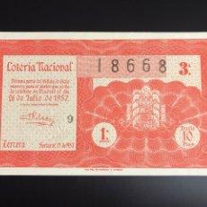 Lotería Nacional: LOTERIA AÑO 1957 SORTEO 21. Lote 190925473