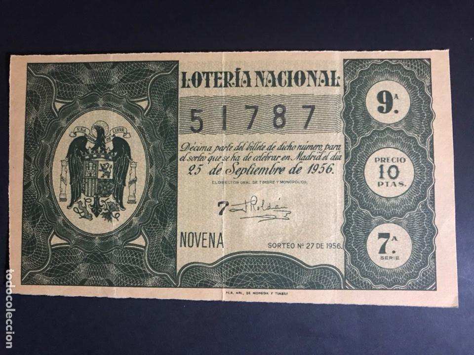 LOTERIA AÑO 1956 SORTEO 27 (Coleccionismo - Lotería Nacional)