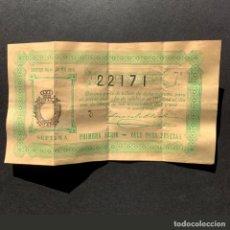 Lotería Nacional: DECIMO LOTERIA NACIONAL - MADRID 1 DE MAYO DE 1916 - SORTEO NÚM.- 12. Lote 191319257