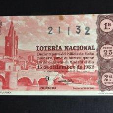 Lotería Nacional: LOTERIA AÑO 1962 SORTEO 35. Lote 191671097