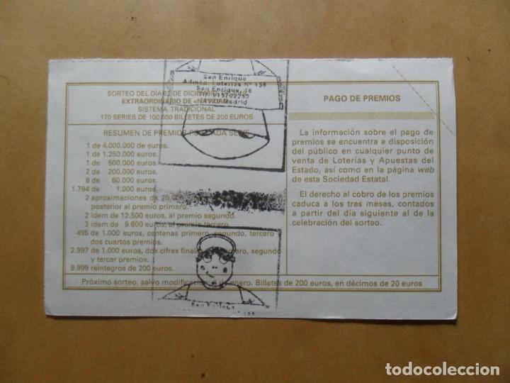Lotería Nacional: DECIMO - Nº 92848 - 22 DICIEMBRE 2019 - 102/19 - LA VIRGEN DE LA ROSA, RAFAEL - EL PRADO - Foto 2 - 191688168