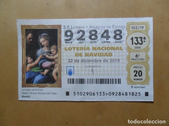 DECIMO - Nº 92848 - 22 DICIEMBRE 2019 - 102/19 - LA VIRGEN DE LA ROSA, RAFAEL - EL PRADO (Coleccionismo - Lotería Nacional)