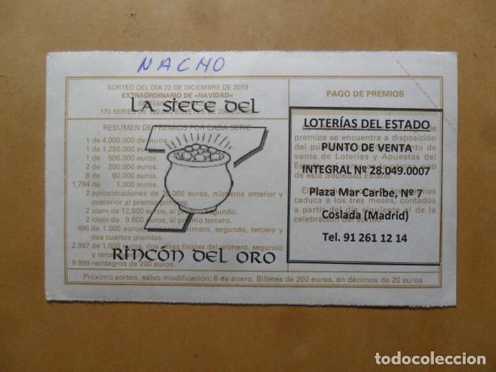 Lotería Nacional: DECIMO - Nº 99844 - 22 DICIEMBRE 2019 - 102/19 - LA VIRGEN DE LA ROSA, RAFAEL - EL PRADO - Foto 2 - 191689402