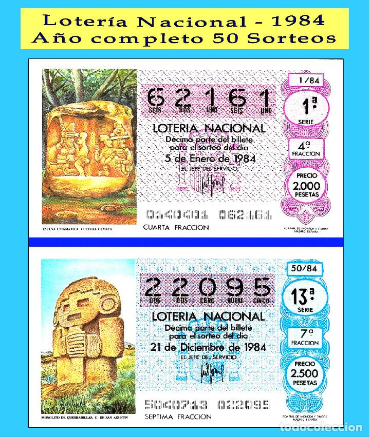 OCASIÓN- 1984 LOTERÍA NACIONAL.- AÑO COMPLETO SÁBADOS / CALIDAD MUY BUENA, DISPONGO DE OTROS AÑOS (Coleccionismo - Lotería Nacional)