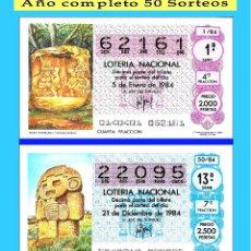 Lotería Nacional: OCASIÓN- 1984 LOTERÍA NACIONAL.- AÑO COMPLETO SÁBADOS / CALIDAD MUY BUENA, DISPONGO DE OTROS AÑOS. Lote 191693275