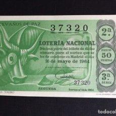 Lotería Nacional: LOTERIA AÑO 1964 SORTEO 14. Lote 191824421