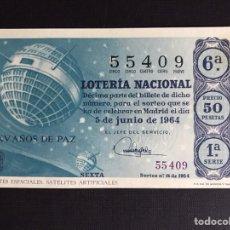 Lotería Nacional: LOTERIA AÑO 1964 SORTEO 16. Lote 191824628