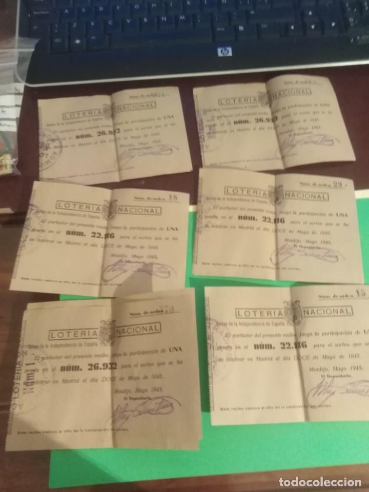 LOTE DE 8 DECIMOS DE LOTERRIA NACIONAL AÑO 1943 (Coleccionismo - Lotería Nacional)