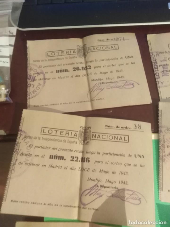 Lotería Nacional: Lote de 8 decimos de loterria nacional año 1943 - Foto 2 - 192546977
