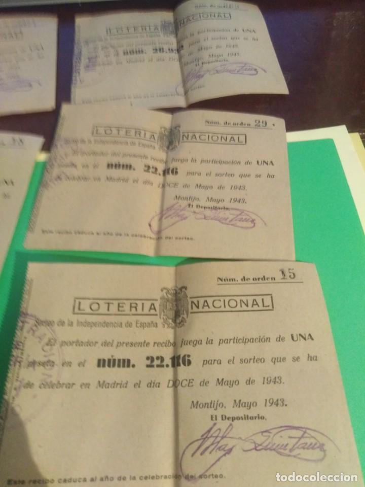 Lotería Nacional: Lote de 8 decimos de loterria nacional año 1943 - Foto 4 - 192546977