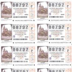 Lotaria Nacional: 1 BILLETE LOTERIA DEL SABADO - 23 ENERO 1999 - 7/99 - IGLESIA DE SAN SEVERINO - BALMASEDA ( VIZCAYA. Lote 232931130