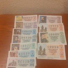 Lotería Nacional: LOTE 12 DECIMOS DE SORTEOS DE 1987. Lote 193303632