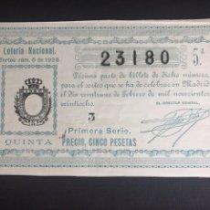 Lotteria Nationale Spagnola: LOTERIA AÑO 1928 SORTEO 6. Lote 193311132