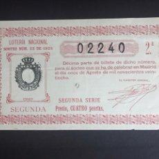 Lotteria Nationale Spagnola: LOTERIA AÑO 1928 SORTEO 22. Lote 193357363