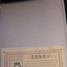 Loterie Nationale: LOTERIA NACIONAL. SORTEO 19-1936 1 SERIE BARCELONA. Lote 193421376
