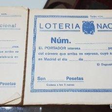 Lotería Nacional: TALONARIO INCOMPLETO LOTERÍA NACIONAL - AÑOS 80. Lote 193848785