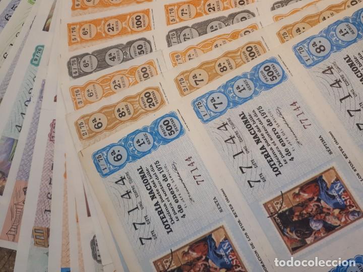 Lotería Nacional: Lotería 1975 año completo billetes, 500 décimos. - Foto 3 - 193993280