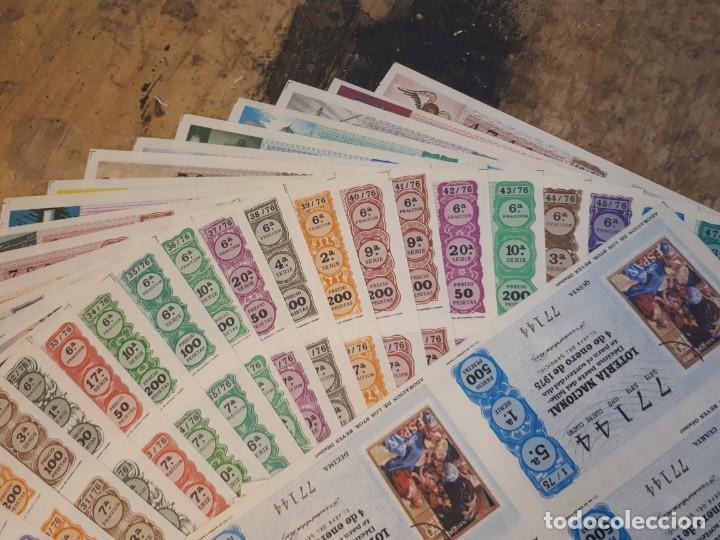 Lotería Nacional: Lotería 1975 año completo billetes, 500 décimos. - Foto 9 - 193993280