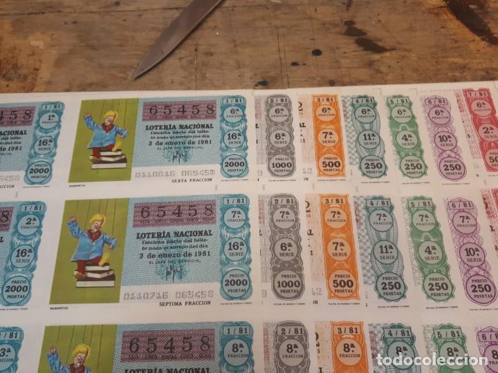 Lotería Nacional: Lotería 1981 año completo billetes, 400 décimos. - Foto 3 - 193996397