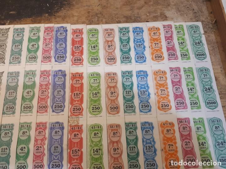 Lotería Nacional: Lotería 1981 año completo billetes, 400 décimos. - Foto 8 - 193996397