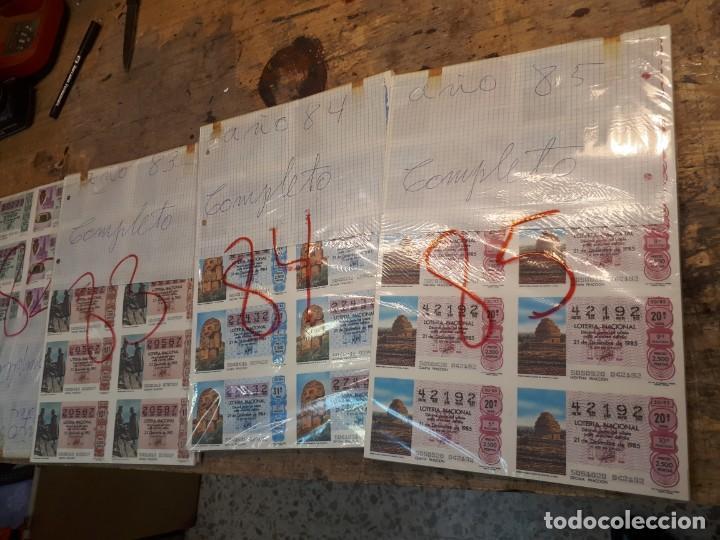 LOTERÍA AÑOS 80 SORTEOS COMPLETOS. PRECIO POR AÑO. (Coleccionismo - Lotería Nacional)