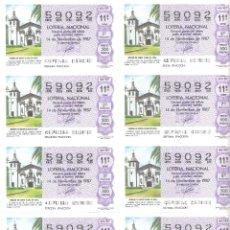 Lotería Nacional: 1 BILLETE LOTERIA SABADO - 14 NOVIEMBRE 1987 - 46/87 - MISION DE SANTA CLARA DE ASIS . Lote 194242377