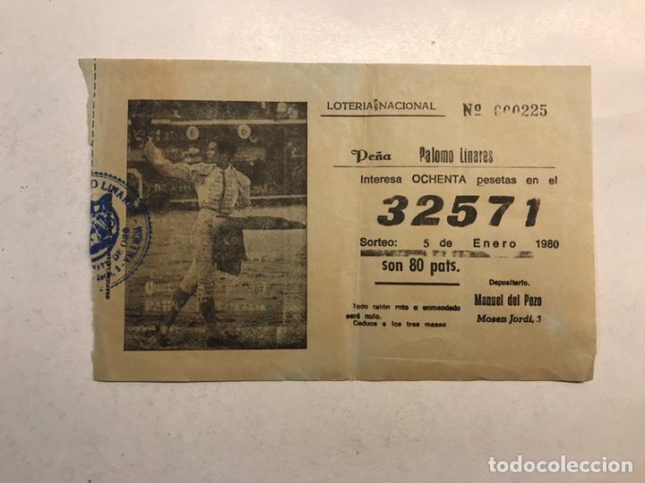 LOTERÍA NACIONAL 5 DE ENERO DE 1980. PEÑA PALOMO LINARES... (Coleccionismo - Lotería Nacional)