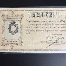 Lotería Nacional: LOTERIA AÑO 1910 SORTEO 22. Lote 194270848
