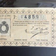 Lotería Nacional: LOTERIA AÑO 1909 SORTEO 32. Lote 194280032
