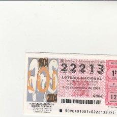 Lotería Nacional: LOTERIA NACIONAL 2004 SORTEO Nº 90 NUMERO 22213. Lote 194327501