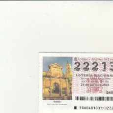 Lotería Nacional: LOTERIA NACIONAL 2004 SORTEO Nº 60 NUMERO 22213. Lote 194328589