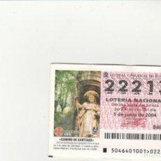 Lotería Nacional: LOTERIA NACIONAL 2004 SORTEO Nº 46 NUMERO 22213. Lote 194329180