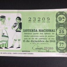 Lotería Nacional: LOTERIA AÑO 1966 SORTEO 35. Lote 194390482