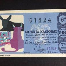 Lotería Nacional: LOTERIA AÑO 1966 SORTEO 36 NAVIDAD. Lote 194390687
