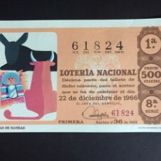 Lotería Nacional: LOTERIA AÑO 1966 SORTEO 36 NAVIDAD. Lote 194390765