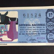 Lotería Nacional: LOTERIA AÑO 1966 SORTEO 36 NAVIDAD. Lote 194390832