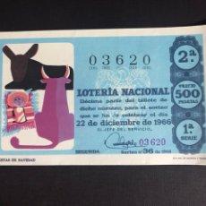 Lotería Nacional: LOTERIA AÑO 1966 SORTEO 36 NAVIDAD. Lote 194390907