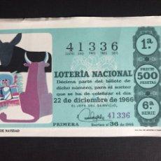 Lotería Nacional: LOTERIA AÑO 1966 SORTEO 36 NAVIDAD. Lote 194391265