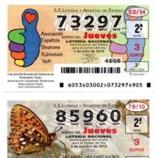 Lotería Nacional: LOTERIA NACIONAL DEL JUEVES - AÑO 2014 - SORTEOS 53, 79, 81 Y 83. Lote 194396195