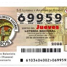 Lotería Nacional: LOTERIA NACIONAL DEL JUEVES - AÑO 2014 - SORTEO 103. Lote 194397405