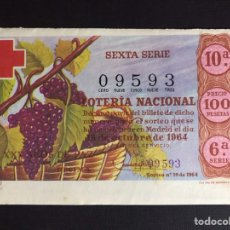 Loterie Nationale: LOTERIA AÑO 1964 SORTEO 29. Lote 194506607