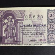Lotería Nacional: LOTERIA AÑO 1965 SORTEO 21. Lote 194515966