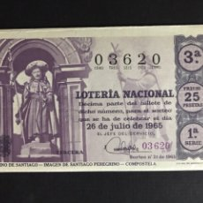 Lotería Nacional: LOTERIA AÑO 1965 SORTEO 21. Lote 194516083