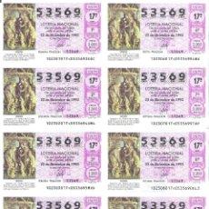 Lotería Nacional: 1 BILLETE LOTERIA SABADO - 22 DICIEMBRE 1993 - 102/93 - NAVIDAD - RETABLO VIRGEN ( MUSEO PALENCIA . Lote 194537718